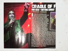 God Seed and Cradle of Filth LIVE review in Terrorizer Magazine