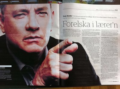 Tom Hanks interview Dagbladet