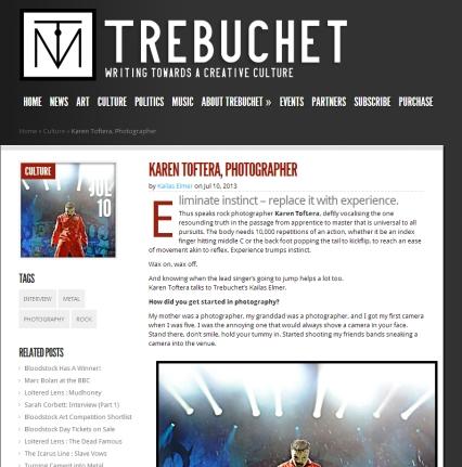 Trebuchet Magazine - Karen Toftera