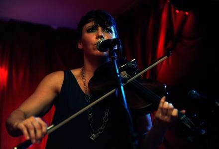 Sarah Neufeuld Arcade Fire Photographer Karen Toftera at The Islington