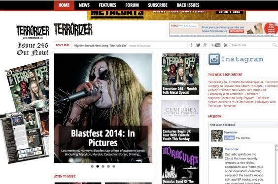 Terrorizer Magazine Photoblog from Blastfest 2014