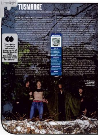 Tusmorke in PROG Magazine
