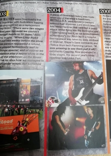 Metallica Download Festival 1o year anniversary booklet